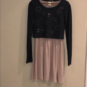 Anthropologie E by Eloise Sweater Overlay Dress
